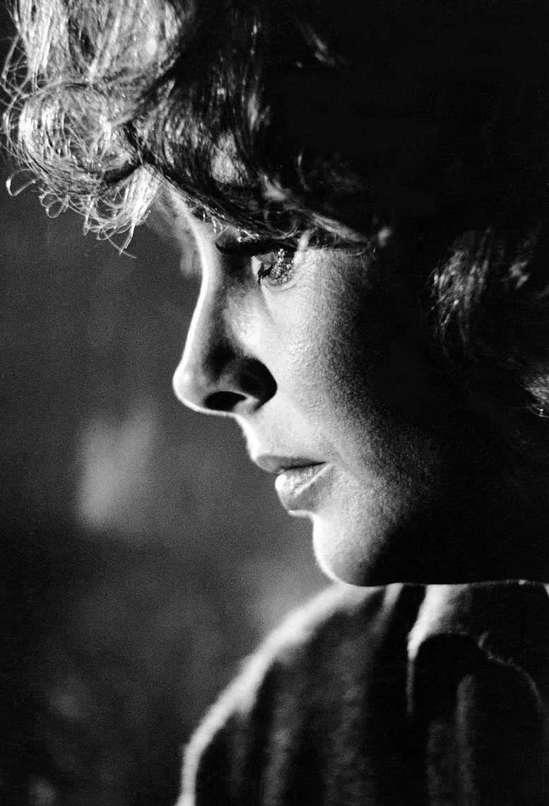Elizabeth Taylor on the Warner Bros. set of Who's Afraid of Virginia Woolf?, 1965.