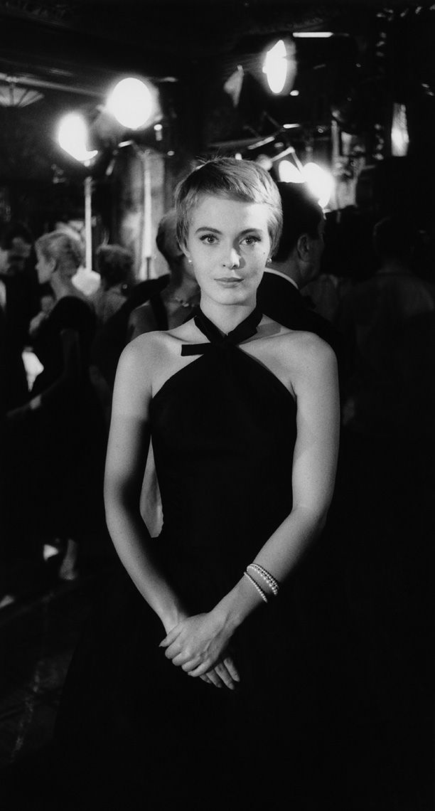 Jean Seberg at Maxime's Restaurant in Paris during filming of Bonjour Tristesse, 1957.