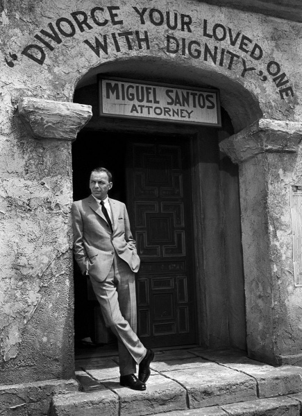 Frank Sinatra, Divorce Sign
