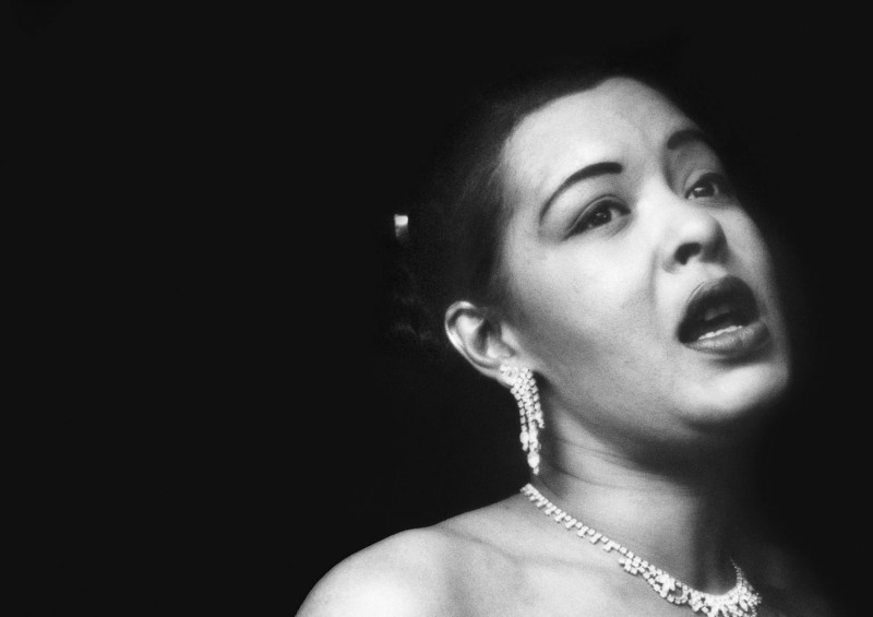 Billie Holiday singing her plaintive songs at the Tiffany Club in Los Angeles, 1952.