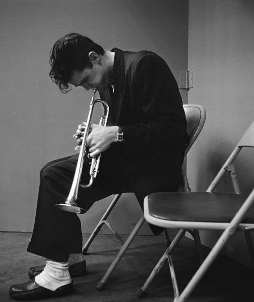 Chet Baker after a recording session with Gerry Mulligan, Los Angeles, 1953.