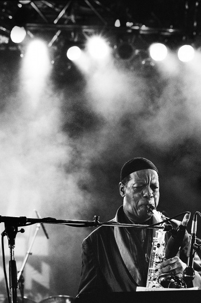 Ornette Coleman tearing up the scenery at Jazz Gipfel in Liederhalle, Stuttgart, 1992.