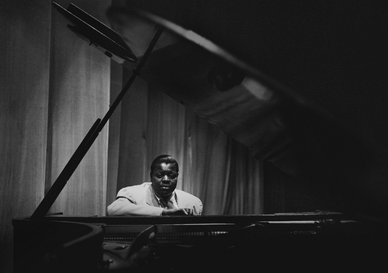 Oscar Peterson at the Shrine Auditorium in Los Angeles, 1950.