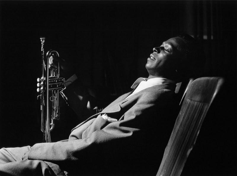Miles Davis resting