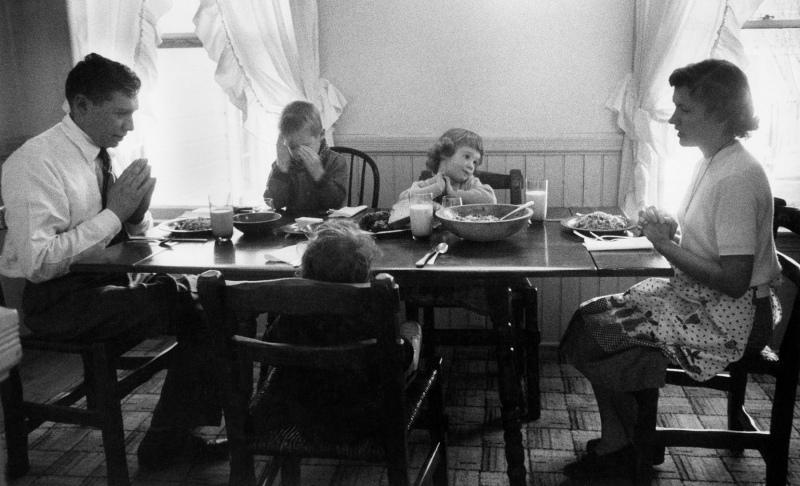 Berliner family grace; Nevada City, CA, 1954.