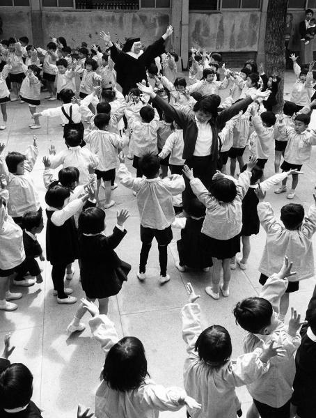 Kyoto Schoolyard, 1958.