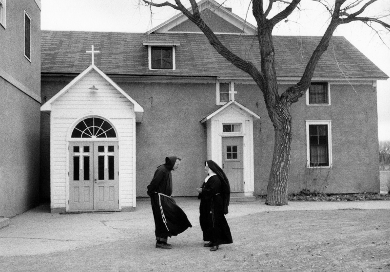 Monk and Nun; Ashland, Montana, 1954.