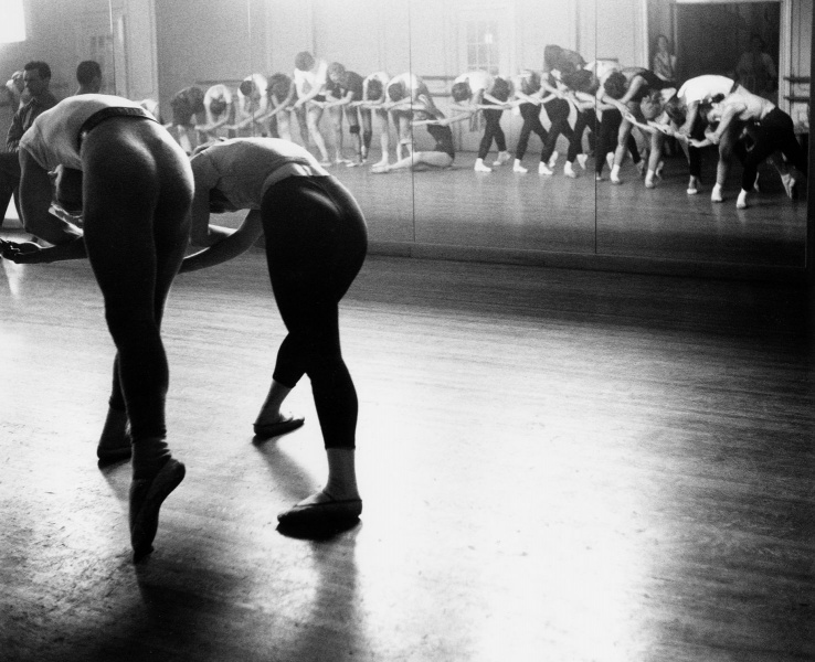 The New York City Ballet Theatre in rehearsal, 1952.
