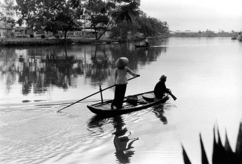 Saigon river scene, 1958.