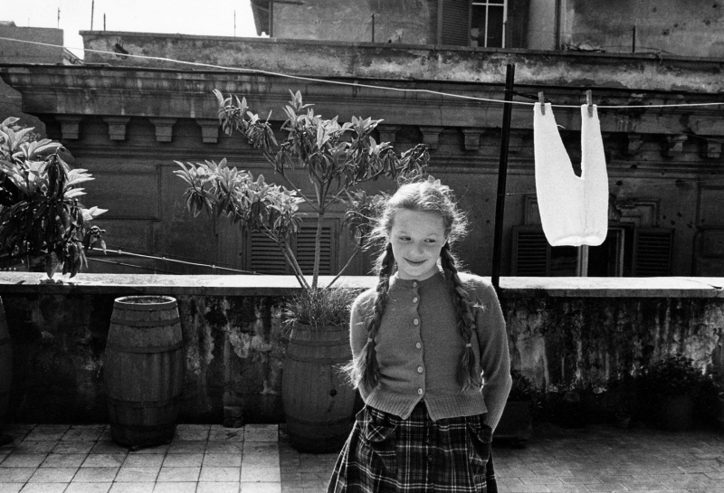 Virginia Fagini, clotheslines, 1957.