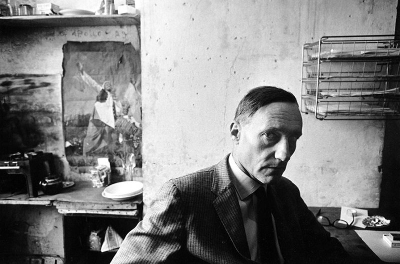 William S. Burroughs, Paris, 1962.